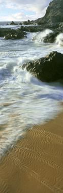 Wave and Sand Patterns on Beach, Cerritos Beach, Baja California Sur, Mexico