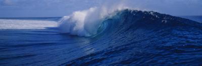 Waves Breaking on the Coast, Tahiti, French Polynesia