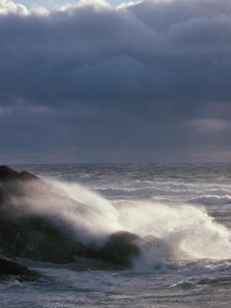 Waves Crashing on a Shore