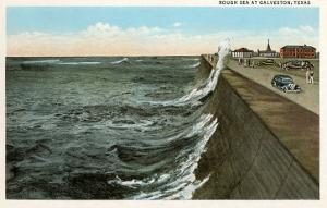 Waves on Seawall, Galveston, Texas