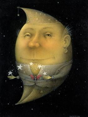 Juggling Crescent Moon by Wayne Anderson