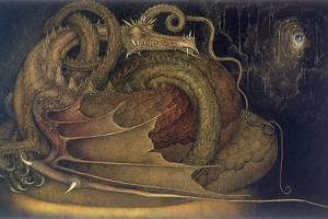 Let Sleeping Dragons Lie, 1979 by Wayne Anderson