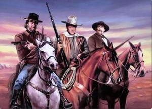 Wayne, Eastwood, Van Cleef