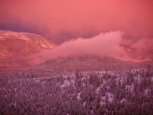 Lake Tahoe at Sunset with Snow, California by Wayne Hoy