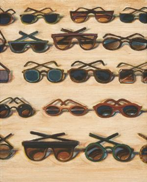 Five Rows of Sunglasses, 2000 by Wayne Thiebaud