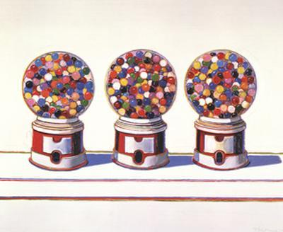 Three Machines (1963) by Wayne Thiebaud