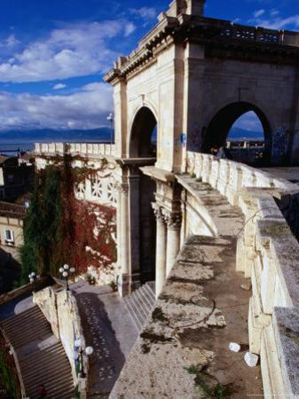 Bastions (Bastione) San Remy Above Piazza Constitutione, Cagliari, Italy by Wayne Walton