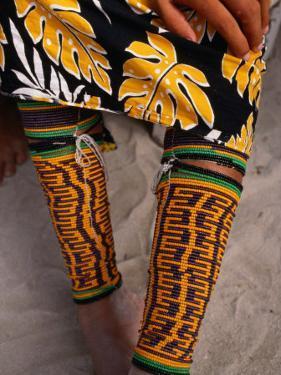 Beaded Ankle and Leg Decoration from San Blas Islands, Panama by Wayne Walton
