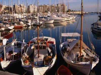 Boats in Piraeus Marina, Athens, Greece by Wayne Walton