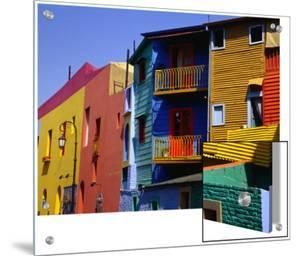 Buildings in La Boca District, Buenos Aires, Argentina by Wayne Walton
