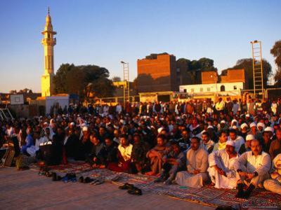 Eid-Al-Fitr Prayers Ending Ramadan, Edfu, Egypt by Wayne Walton