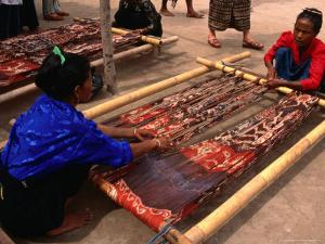 Ikat Weaving at Watumbakala Village, Indonesia by Wayne Walton