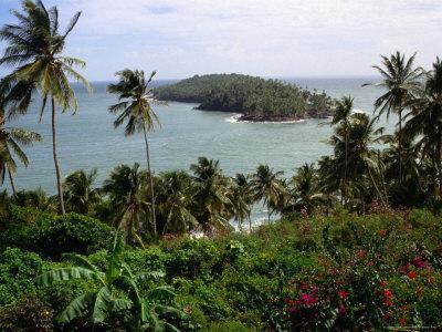 Ile Du Diabla (Devils Island) from Ile Royale in Iles Du Salut Group, French Guiana