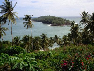 Ile Du Diabla (Devils Island) from Ile Royale in Iles Du Salut Group, French Guiana by Wayne Walton