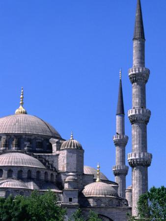 Minarets and Domes of Blue Mosque (1609-19), Istanbul, Turkey by Wayne Walton