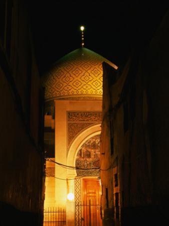 Mosque at Night, Damascus, Syria by Wayne Walton