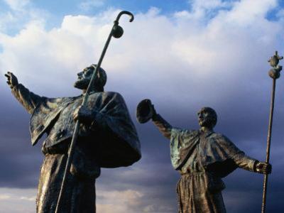 Pilgrim Statues, Santiago De Compostela, Spain by Wayne Walton
