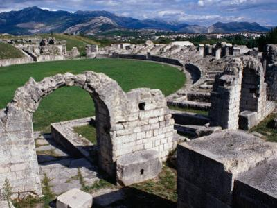 Roman Amphitheatre Ruin, Salona, Croatia by Wayne Walton