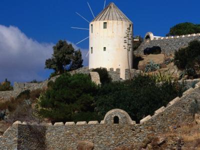 Stone Staircase to Windmill, Mykonos Town, Greece by Wayne Walton