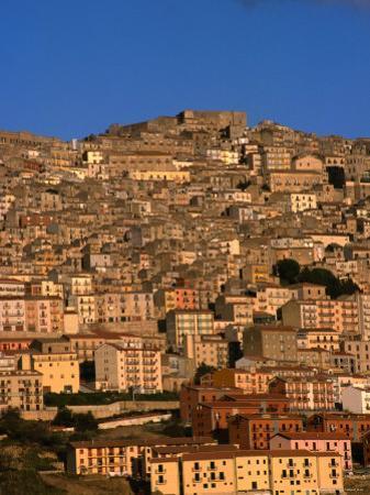 Townscape on Monte Marone, Gangi, Italy by Wayne Walton
