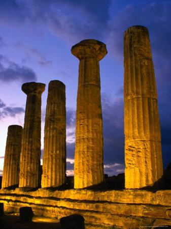 Valley of Temples at Temple of Hercules, Agrigento, Italy by Wayne Walton