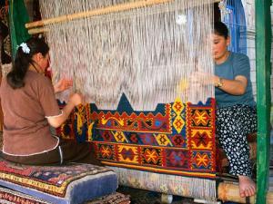 Women Making Carpets, Cappadocia, Turkey by Wayne Walton