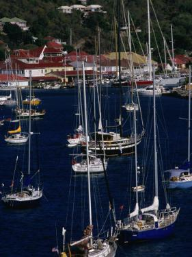 Yachts Moored in Harbour, Gustavia, St. Barts by Wayne Walton