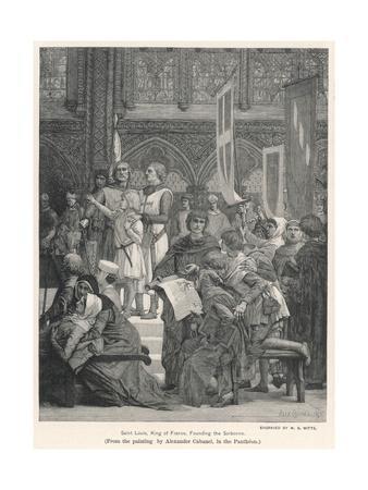 King Louis IX Founding the Sorbonne