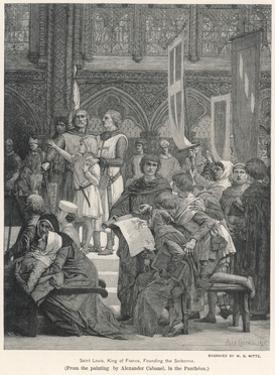 King Louis IX Founding the Sorbonne by WB Witte