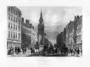 Cheapside and Bow Church, London, 19th Century by WE Albutt