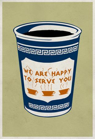 We Are Happy To Serve You Retro Poster