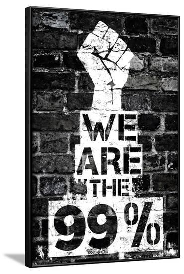 We are the 99 Percent--Framed Art Print