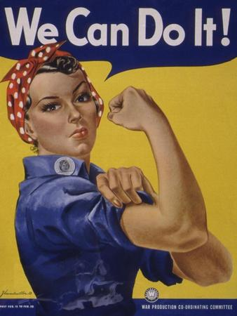 We Can Do It!' World War 2 Poster Boosting Morale of American Women Contributing to the War Effort