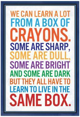 We Can Learn a lot From a Box of Crayons
