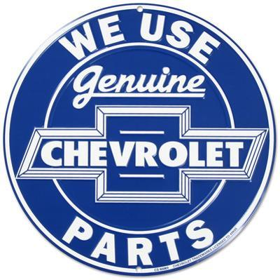 We Use Genuine Chevrolet Chevy Parts Round