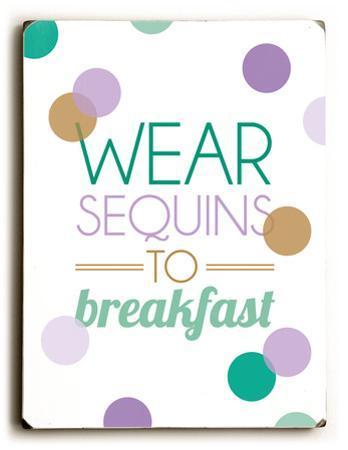 Wear sequins to Breakfast-teal