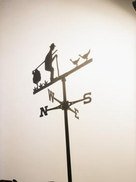 Weather Vane with Old Man and Cane