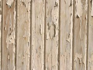 Weathered and Cracked White Painted Wood Plank Wall