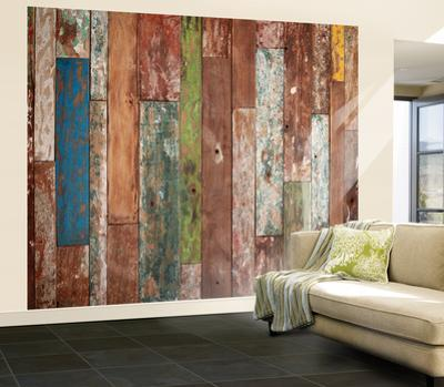 Weathered Wood Wall Mural