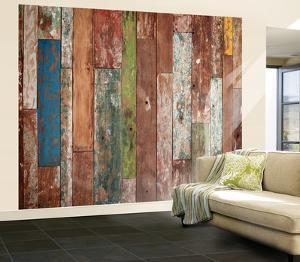 Weathered Wood Wall Mural