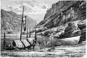 The Upper Yangtse-Kiang, China, 1895 by Weber