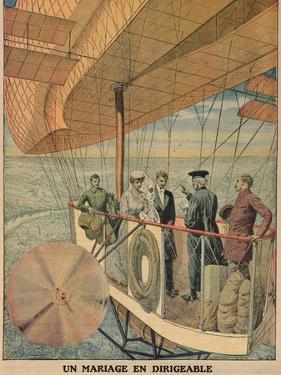 Wedding in an Airship, from 'Le Petit Journal', 1911