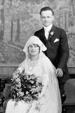 Wedding Portrait of Young Couple, Ca. 1924