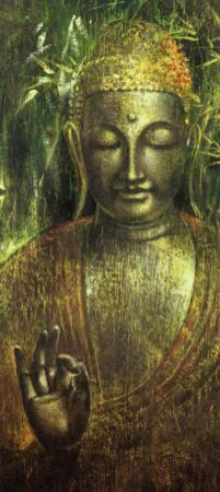 Buddha in Green l by Wei Ying-wu