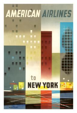 To New York - American Airlines by Weimer Pursell