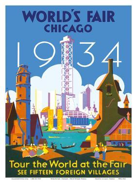World's Fair Chicago 1934 - Tour the World at the Fair by Weimer Pursell