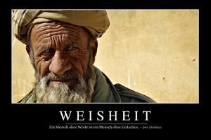 Weisheit: Motivationsposter Mit Inspirierendem Zitat