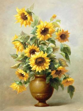 Sunflowers in Bronze II by Welby