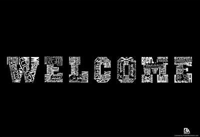 Welcome Languages Text Poster