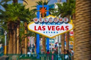 Welcome To Fabulous Las Vegas Nevada Sign, Las Vegas, Clark County, Nevada, USA